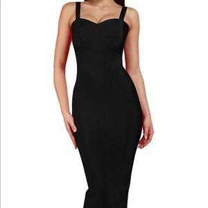 Black Bandage Cocktail Club Little Black Dress
